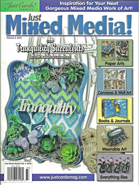 cover of Just mixed media magazine 4th edition