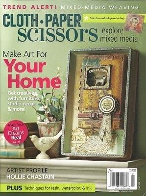 March | April 2017 Magazine cover for Cloth Paper Scissors