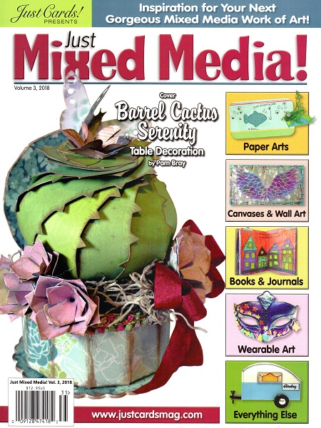 volume 3 cover of just mixed media magazine