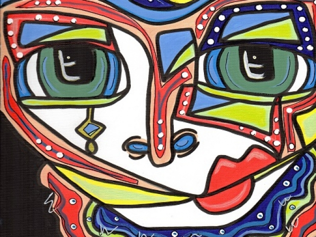 colorful character inpsired by hundertwaser