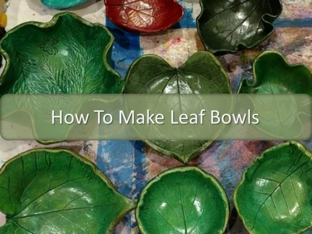 green bowls made using paper clay