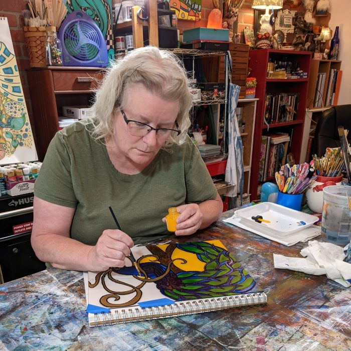 kimberly in studio